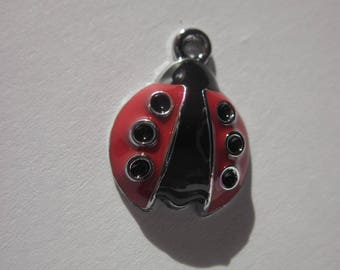 Ladybug metal colored 1.8 cm (148) shaped charm