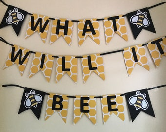 What will it bee gender reveal baby shower banner