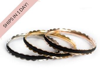 LAUREL Hair Tie Bracelet Bangle Stainless Steel in Silver, Gold, or Rose Gold. Hair Tie Holder, Stocking Stuffer Wedding Bridesmaid Gift Set