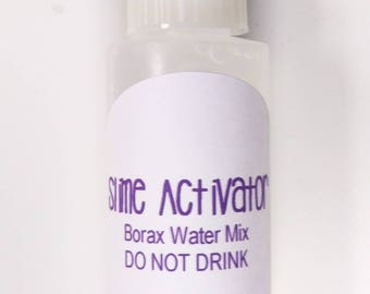 2 Ounce Slime Activator, Pre-Made Borax Water Solution