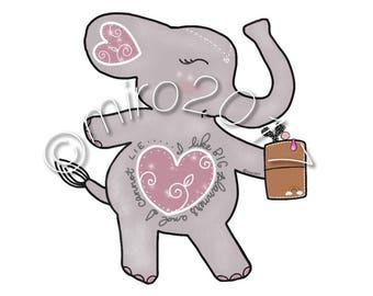 Elephant Big Planners Quote Printable
