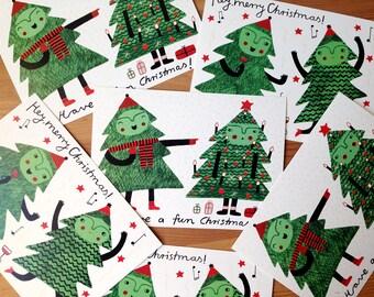 Christmas Postcards Set of 4