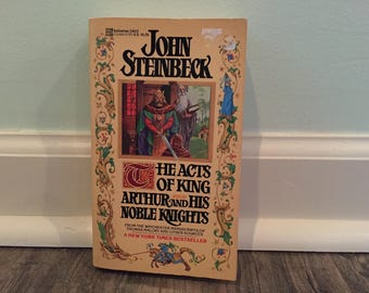 """John Steinbeck """"The Acts of King Arthur and His Noble Knights"""" paperback novel"""