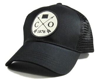 Homeland Tees Colorado Arrow Hat - All Black Trucker