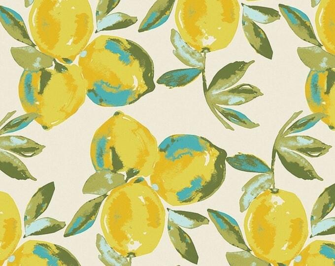 Art Gallery Fabrics/ Art Gallery Knit/ Yuma Lemons Mist/ Sage by Bari J/ Lemons/ Yellow/ Turquoise/ Sage/Customer Loyalty Program