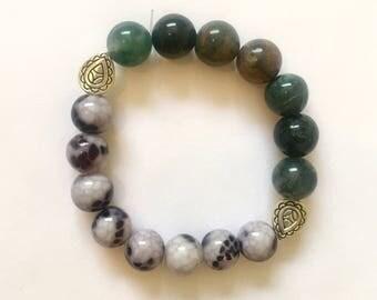 Jasper howlite paisley bracelet