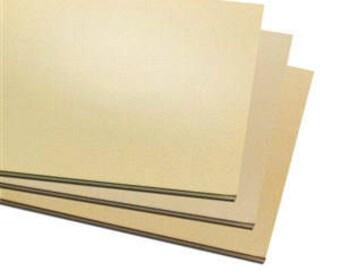 """3 Pack 3""""x2"""" Jewelers Brass Sheet Metal,  Blanks, Stamping, Choice of Gauge, Supplies, Findings, Metal Work"""
