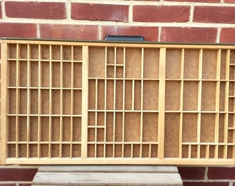 Printers drawer, Hamilton printers tray, letterpress drawer, typepress tray, shadowbox, collectibles display