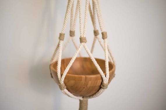 Raw cotton plant hanger