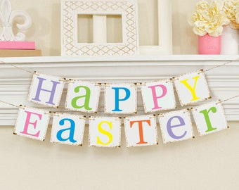 Happy Easter Decoration - Happy Easter Banner- Easter Banner - Easter Garland