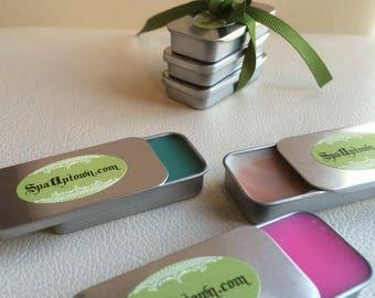 Organic LIP BALM  Tin Collection by SPA Uptown, All Natural, Vegan, Mint,Bubble Gum, Dulce De Leche, Coconut, Lush Lips, Kissable, Honey