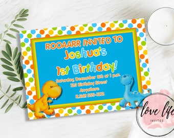 Little Dino Birthday Invitation | Dino Birthday Invitation | Dinosaur Birthday Invitation | Dinosaur Birthday Theme | Dino Birthday Theme