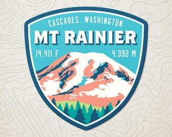 Mt. Rainier Decal Sticker