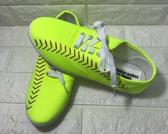 Softball Shoes (Great Softball gift) SOFTBALL lovers toms softball shoes