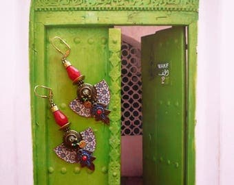 Nomadic Oriental studs - belly dance - ethnic hippie chic earrings - Gypsy - Morocco - trailer - Gypsy spirit