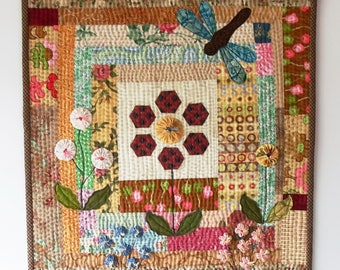 Handmade Mini Art Quilt Quilted Wall Hanging