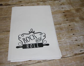 Rock And Roll Kitchen Flour Sack Towel