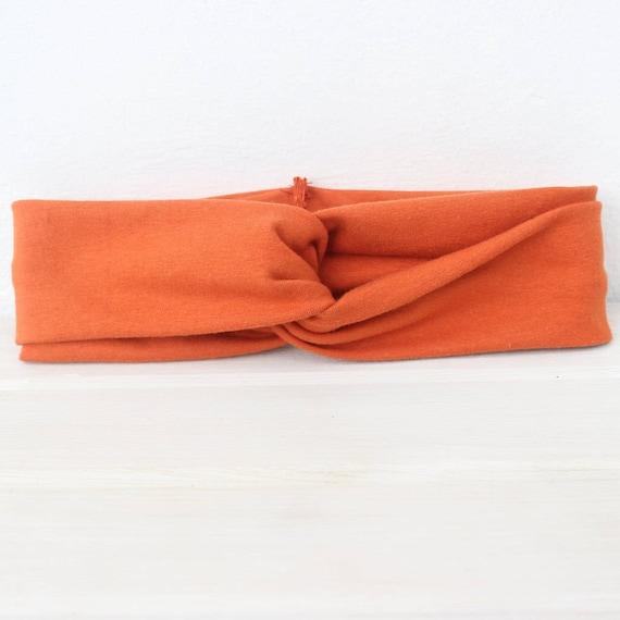 Orange Turban, Baby Headbands, Fall Baby Turban, Baby Headwrap, Orange Headwrap, Baby Girl Turban, Baby Turban, Turban Headband, Turban
