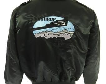 Vintage 80s Northrop B-2 Stealth Bomber Jacket Mens L MacMurray US Air Force [H89D_1-8_Puffy]