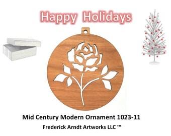 1023-11 Mid Century Modern Christmas Ornament