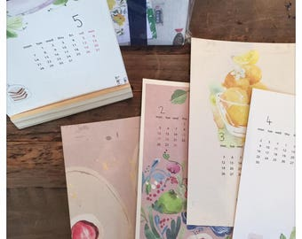 Fion Stewart 2018 Loose Calendar Watercolor Designs Paper