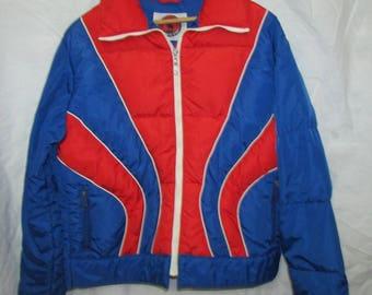 Mountain Goat Ski Jacket Down Red Blue