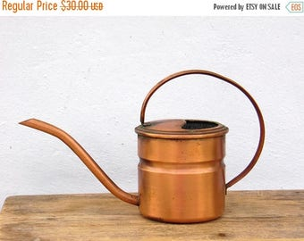ON SALE Vintage Copper Watering Can - Plants, Gardening - Home Decor