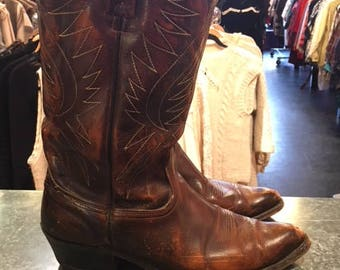 ACNE Brown Men Cow Boy Boots Size 10.5