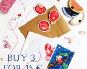 Buy 3 and get a discount, gift package, surprise box, small gift packages, cute illustrated gift, cute brooches
