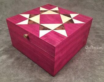 Missouri Star Wooden Marquetry Keepsake Box