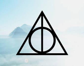 Deathly Hallows Vinyl Decal <More Colors Available> <One Decal> <Decal Only> <Ships 1-3 Business Days>