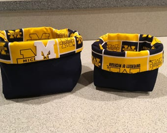 University of Michigan basket set