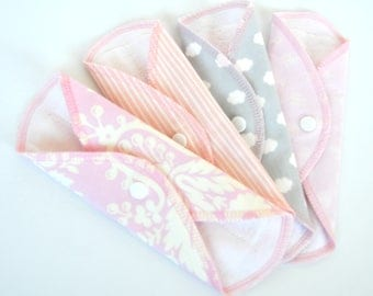 Set of 4 Cloth Panty Liners  7.5inch One day in Apr cotton flannel