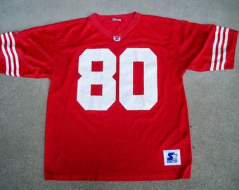 Vintage Starter Jerry Rice 80 San Francisco NFL Football Jersey Uniform Size Large Made in Korea