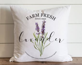 Lavender 20 x 20 Pillow Cover // Everyday // // Flower // Floral // Herbs // Gift // Accent Pillow