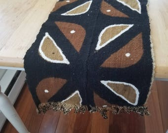 """African Mudcloth Bogolanfini  table runner 64"""" x 11 table centerpiece, tribal, ethnic #110"""
