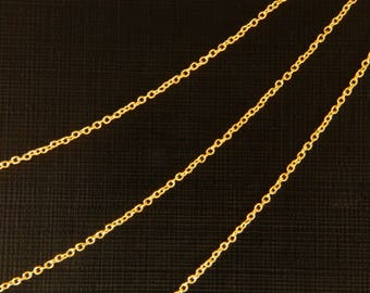 50% OFF >>> Chain 220S, Nickel free, CJ03-01, 0.52m, Thin gold necklace bracelet chain, 16k gold plated copper, chain for necklace
