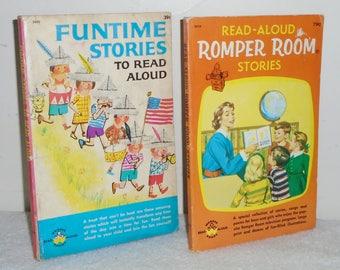 Vintage Read Aloud Wonder Books ~ 1958 Romper Room & 1962 Funtime Stories