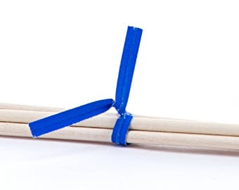 Blue Paper Twist Ties - Pack of 100 (pm241070)