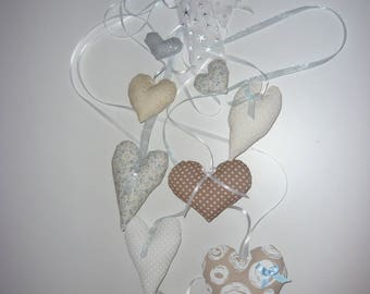 Hanging hearts decoration for child's room
