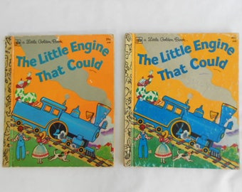 """2 Vintage """"Little Golden Books"""" The Little Engine that Could"""