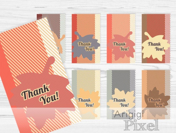 Thanksgiving Gift Tag, Thank You Hang Tag, blank gift tag, falling leaves, fall colors, download PDF  PNG Word docx file