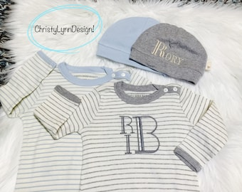 Baby Boy Going home outfit,Free Shipping, Baby Shower Gift, Newborn Baby Outfit, Organic Baby, Baby Pictures, Monogrammed Baby