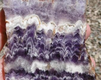 Amethyst Lace Agate Slab  (80X60X5)