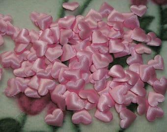 Heart, Satin, Pink, 20 Piece (158)