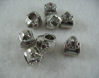 Metal bead, 8 pieces  (1259)