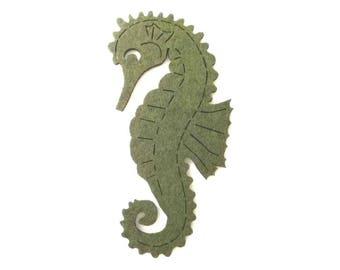 1 seahorses, felt, 19x10 cm (F10-0001B)