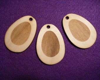 3 eggs, wood, 6,5 x 4,5 cm (07-0004A)