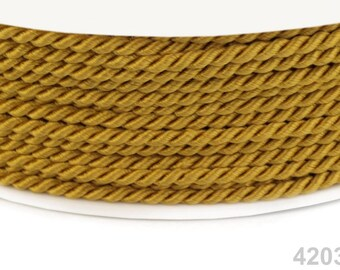 5 meter cord, gold, 2.8 mm