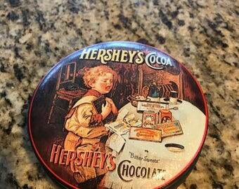 Hershey's Cocoa Tin - Vintage Scene with Child and Hershey Products